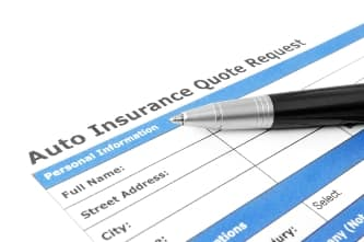 Car insurance quote form