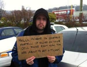 Cellphone ticket panhandler