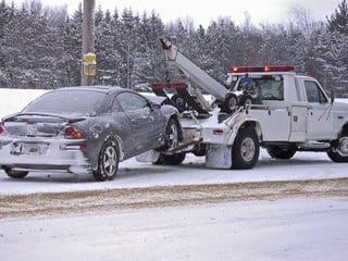 towed in snow