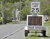 Digital speed limit sign