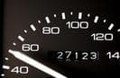 Car mileage odometer