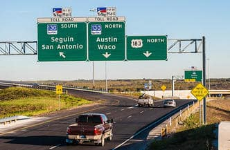 Texas toll road